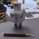 Free Halloween Headless Robot Papercraft