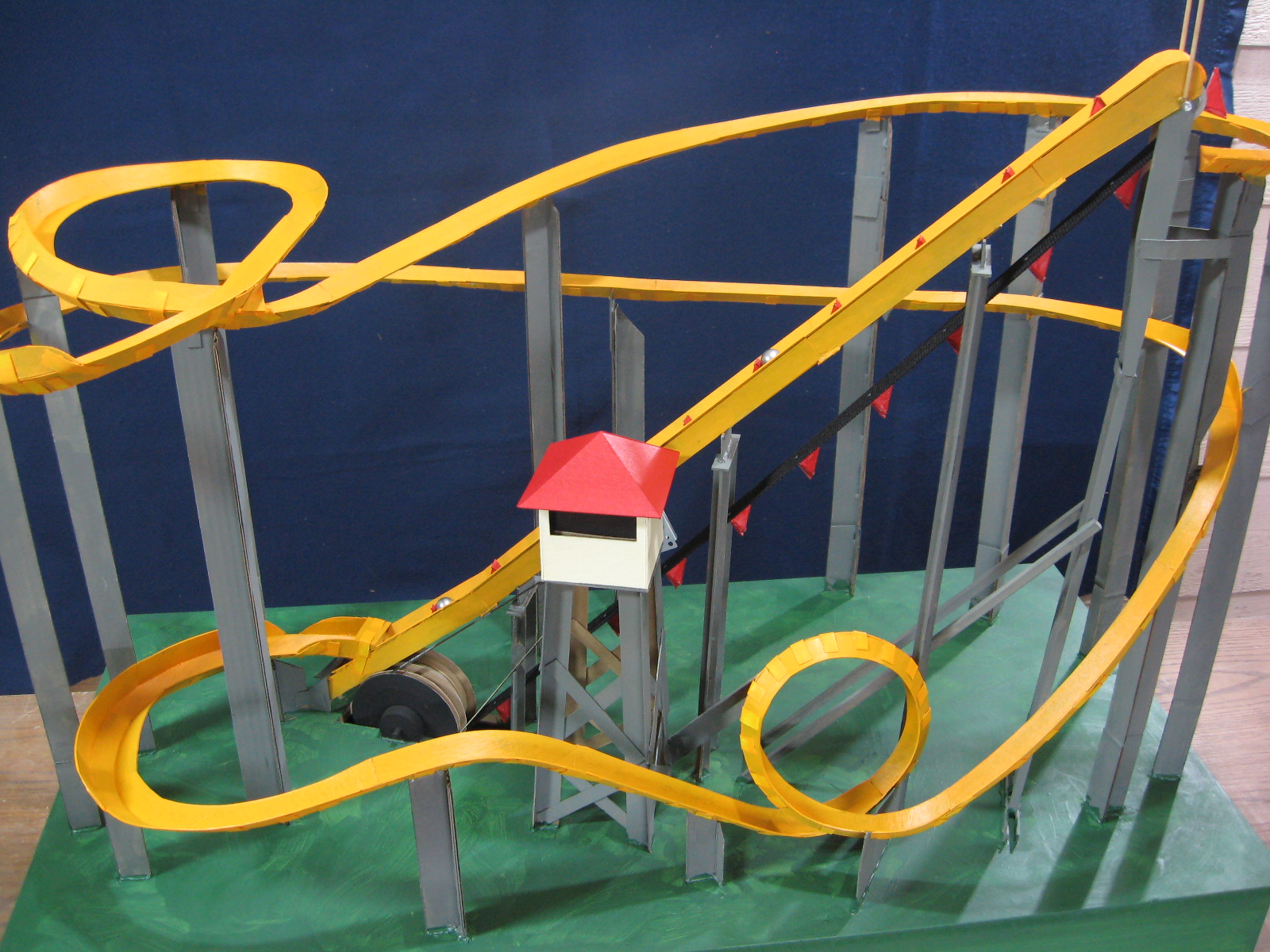 Motorized Marble Roller Coaster