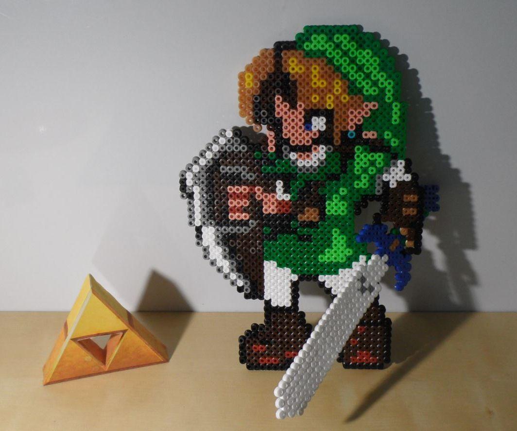 Link With the Master Sword -The Legend of Zelda 3D Perler Beads-