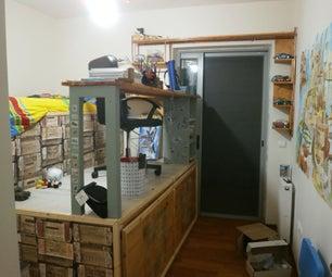 Elevated Corner Desk With Storage Area Beneath
