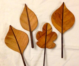 从木头装饰叶子