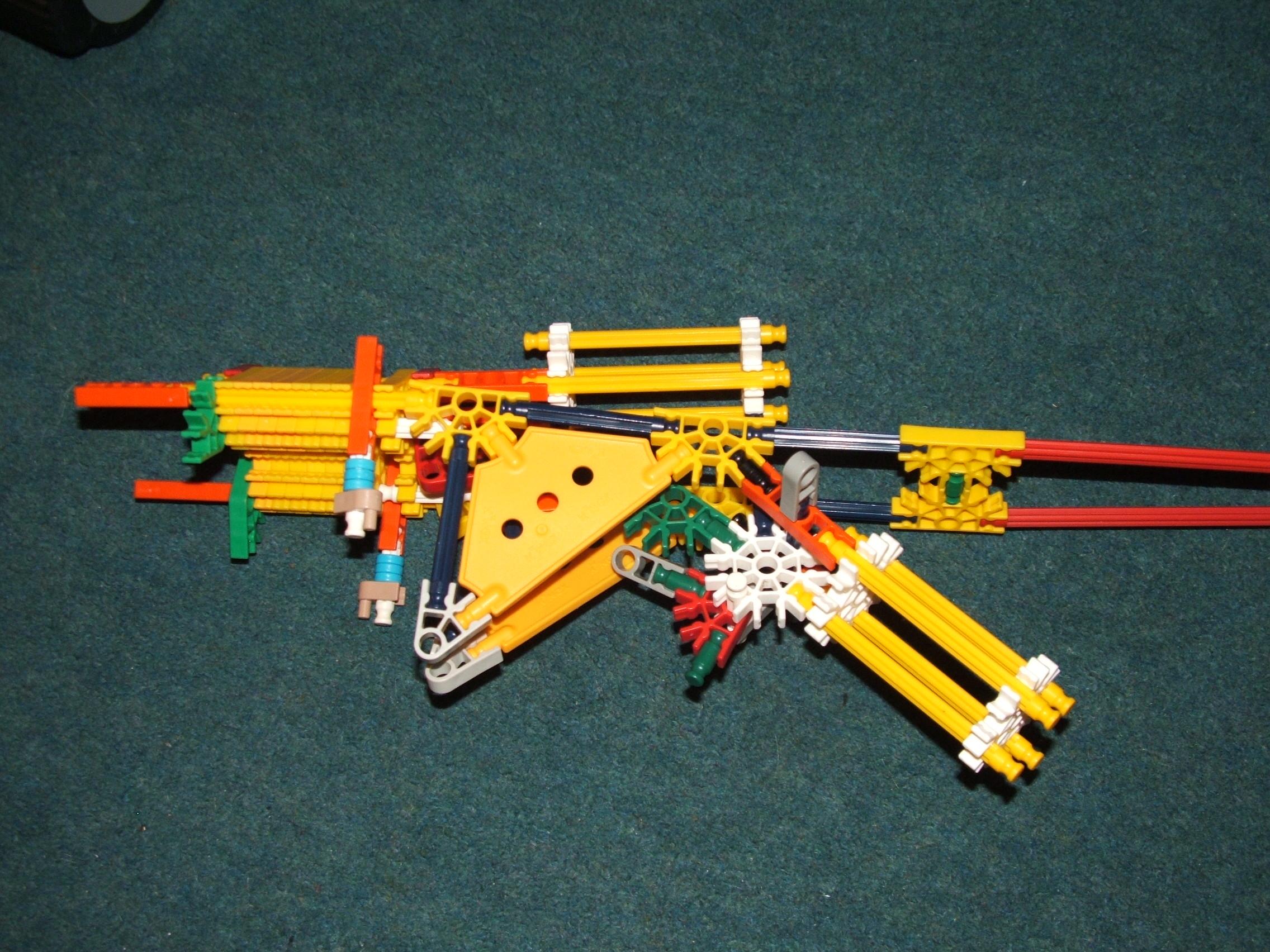 Dual firing, Knex sniper, true trigger with scope.