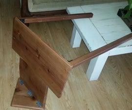 Wallmounted Redwood Folding Desk