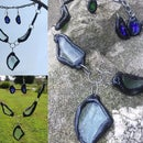 Scrap Glass Pieces Into a Jewelry Set