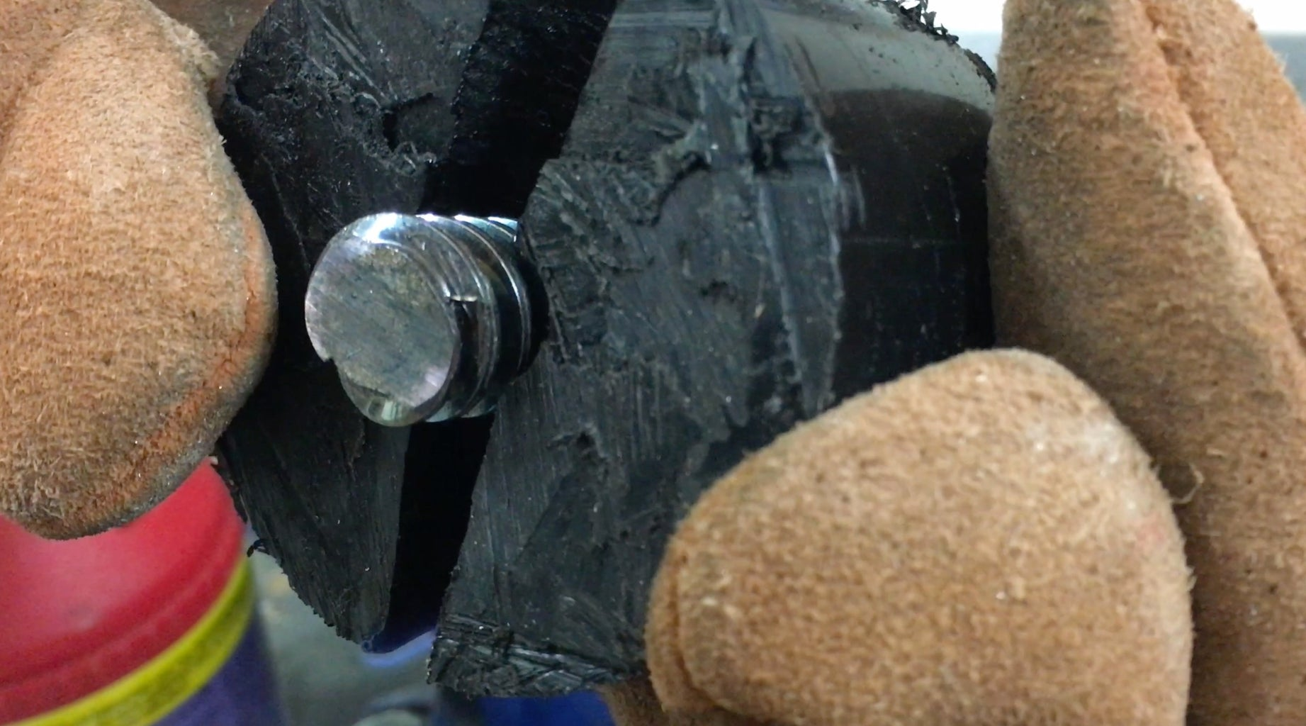 Melt the Delrin Stock Around the Lead Screw.
