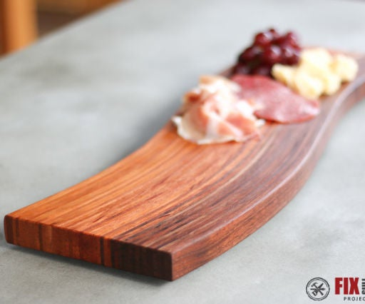 Curved Cutting Board With Bent Lamination