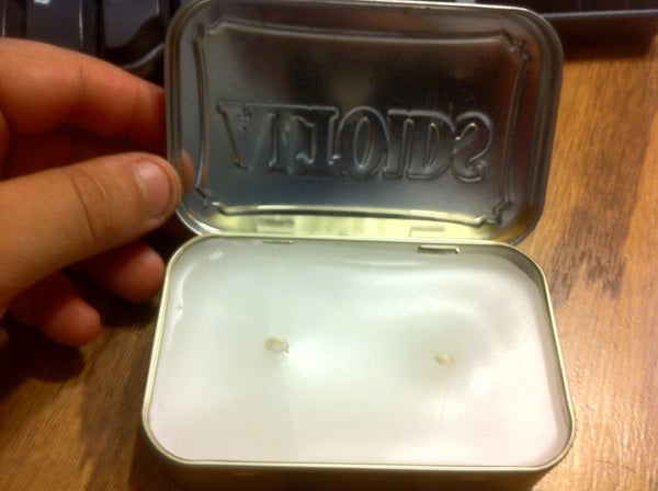 Altoids Tin Candle