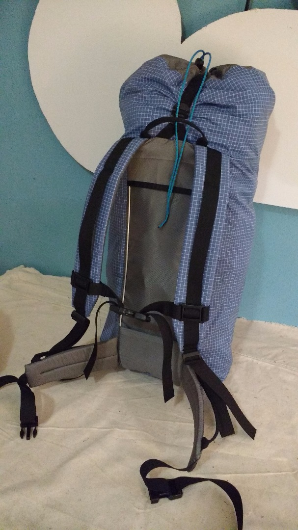 28L 210 D Dyneema Gridstop and Hyper D 300 or 2.2oz Hex 70 climbing/hiking pack/backpack