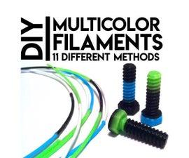 DIY Multicolor Fused Filaments: Review & New Technique