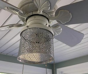 Moroccan Pattern Ceiling Fan Light Canister