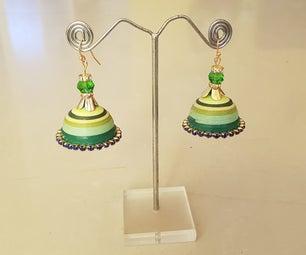 Easy DIY Paper Earrings