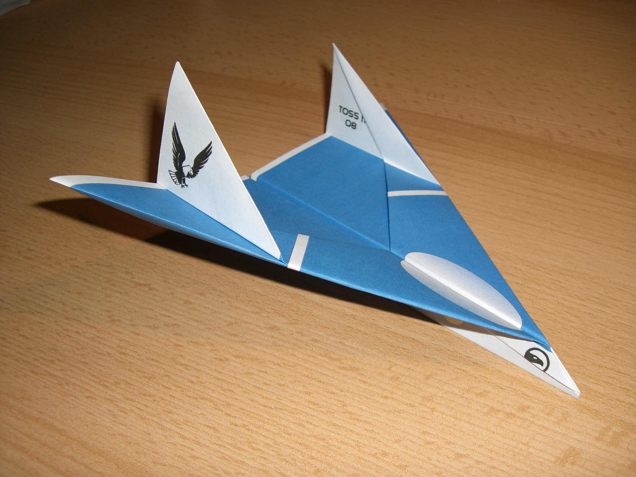 """The Eagle Jet Paper Airplane """"you cannot hide""""  ;-)"""