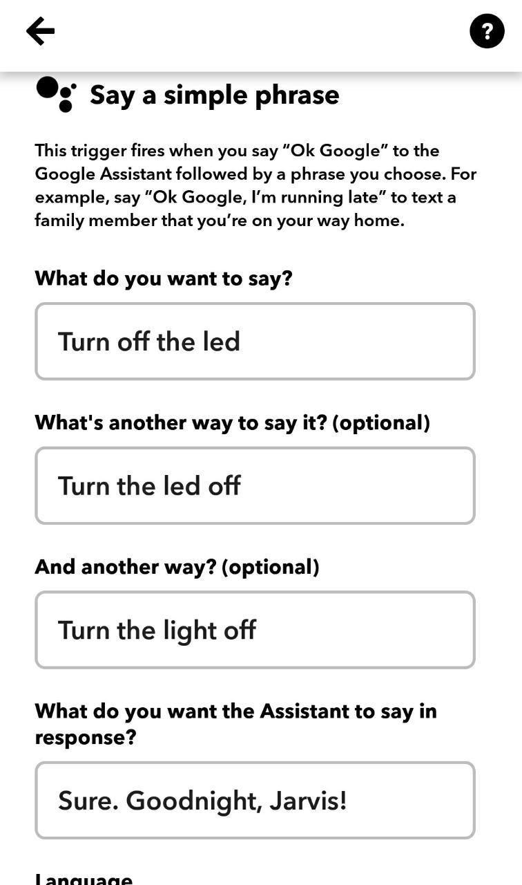 Using IFTTT App