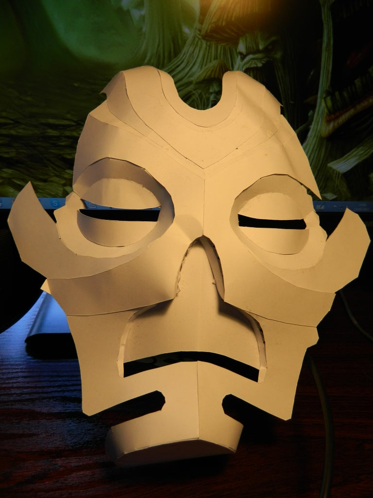 Assembling the Paper Mask