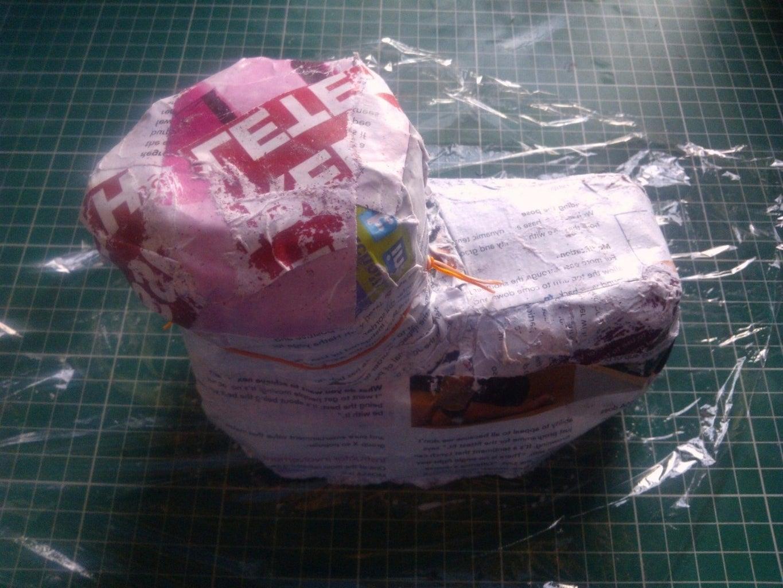 Preparing the Paper Mache'
