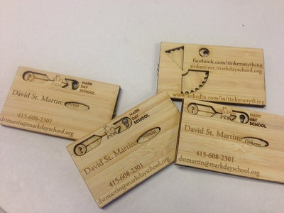 Spinning Wheel Business Card (or Mother's Day Card!)