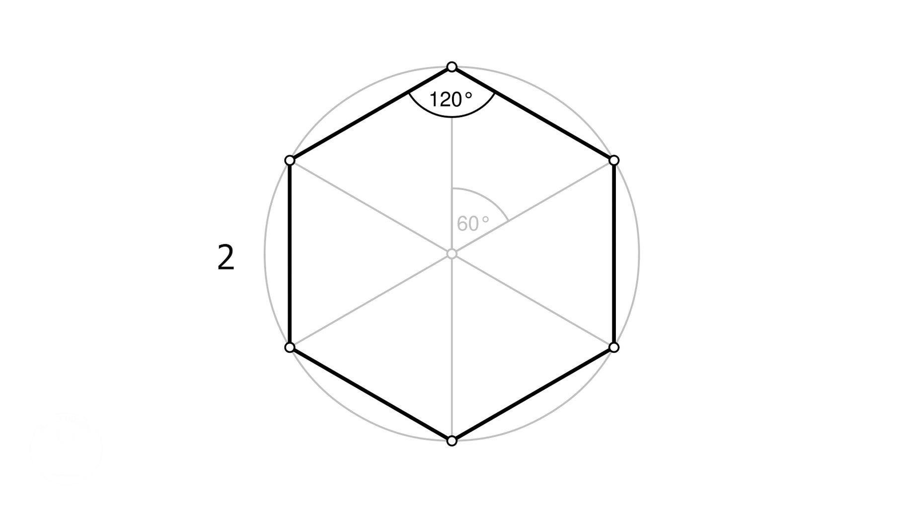 Trace Hexagon Outline