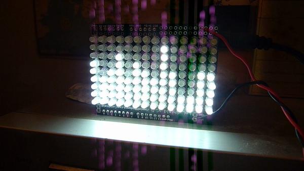 LoL Shield Audio Spectrum VU Meter