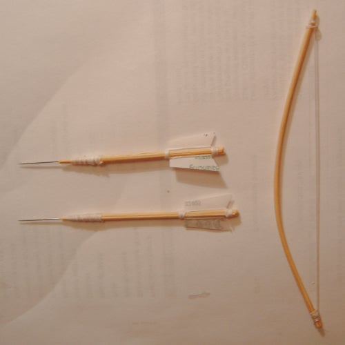 """6"""" Bow and Needle-tipped Arrows (Perversely Inspired by Cupid)"""