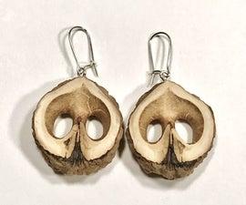 Black Walnut Shell Earrings