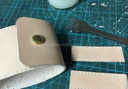 Punch Stitching Holes in Grooves.