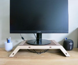 Layered Plywood Monitor Stand