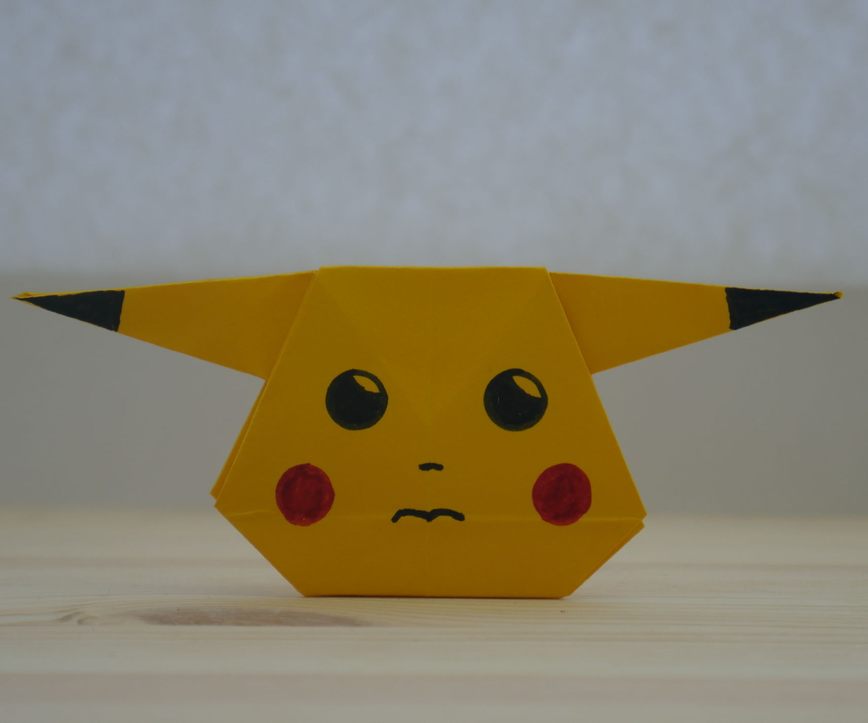 Origami. How to Make Pikachu From Paper (video Lesson)