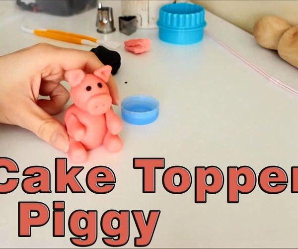How to Make a Sugar Paste Fondant Pig Cake Topper