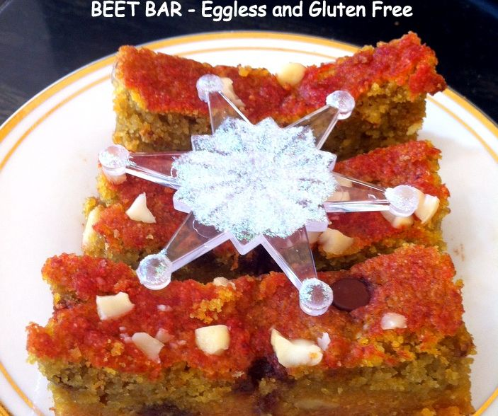 Beet Bar - Eggless and Gluten Free