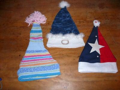 Upcycled Santa Hats