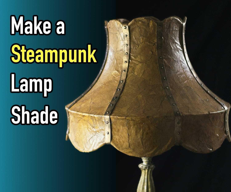 DIY Steampunk Lampshade Using Brown Paper