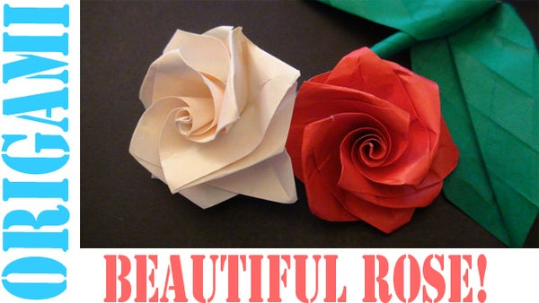 How to Make an Origami Valentines Day Rose!