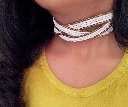 Multi Beaded Plait Bangle - Choker/Bracelet/Ancklet