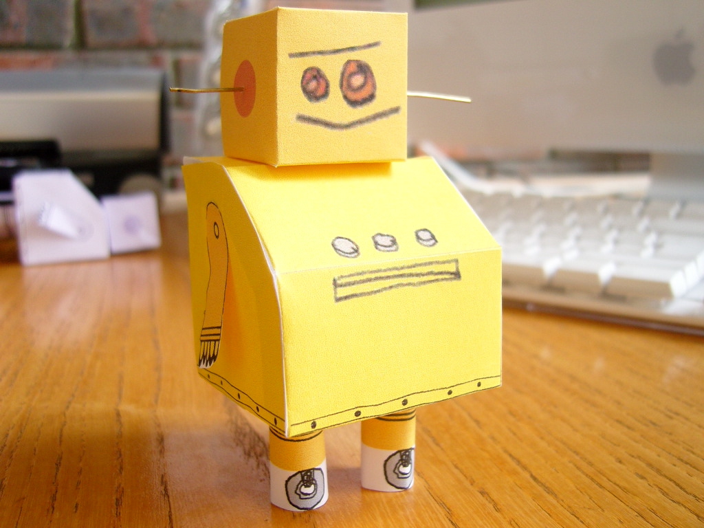 Instructables Robot -- Paper Model