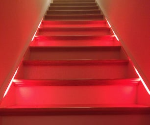 """Arduino-based LED """"Bloody Red"""" Automatic Stairs"""