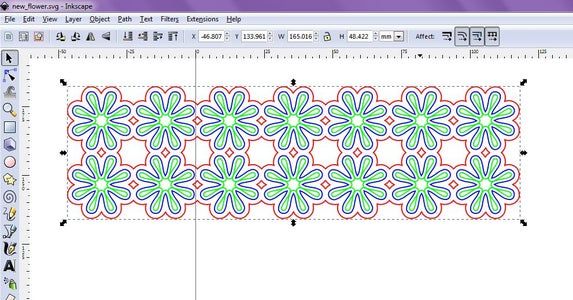 Create a Design, Using a Vector Graphics Program Such As Inkscape