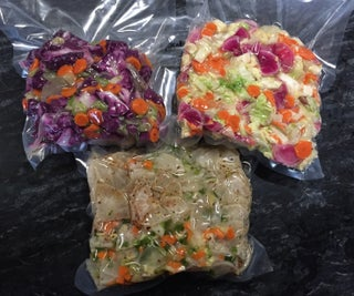 Easy Homemade Sauerkraut and Kimchi Recipe - in a Bag!