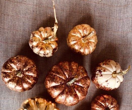 Tamise Gilded Mini Pumpkins