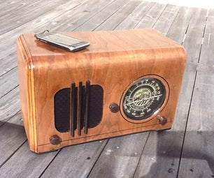 Vintage Radio Into a Speaker for an MP3 Player...