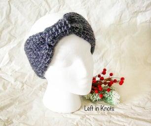 Tunisian Crochet Knotted Ear Warmer