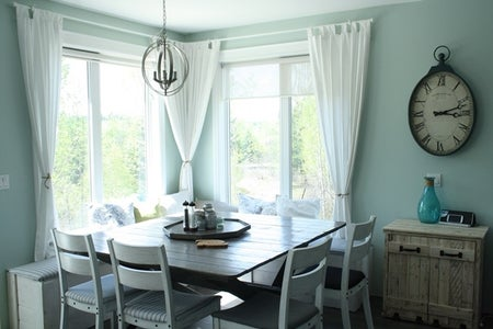 Curtains + Cushions = Cozy