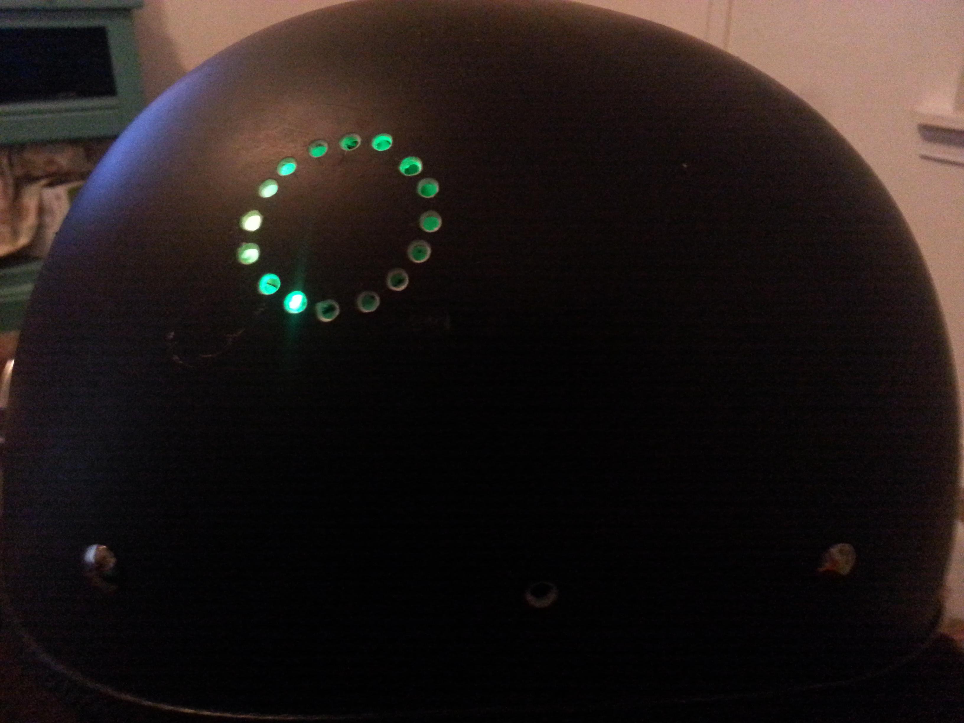 Neopixel Ring Motorcycle Helmet