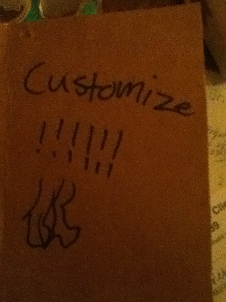 Custom Cardboard Notebook