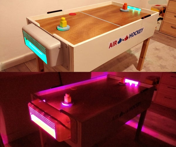 Wooden Air Hockey Table With Led Lights