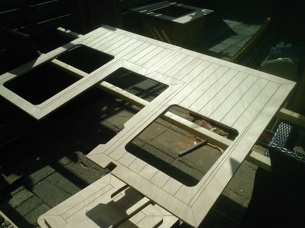 Faux (fake) Cheap Teak Deck From Plywood