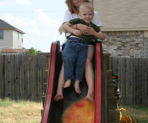 Galaxy Slide With Rock Wall