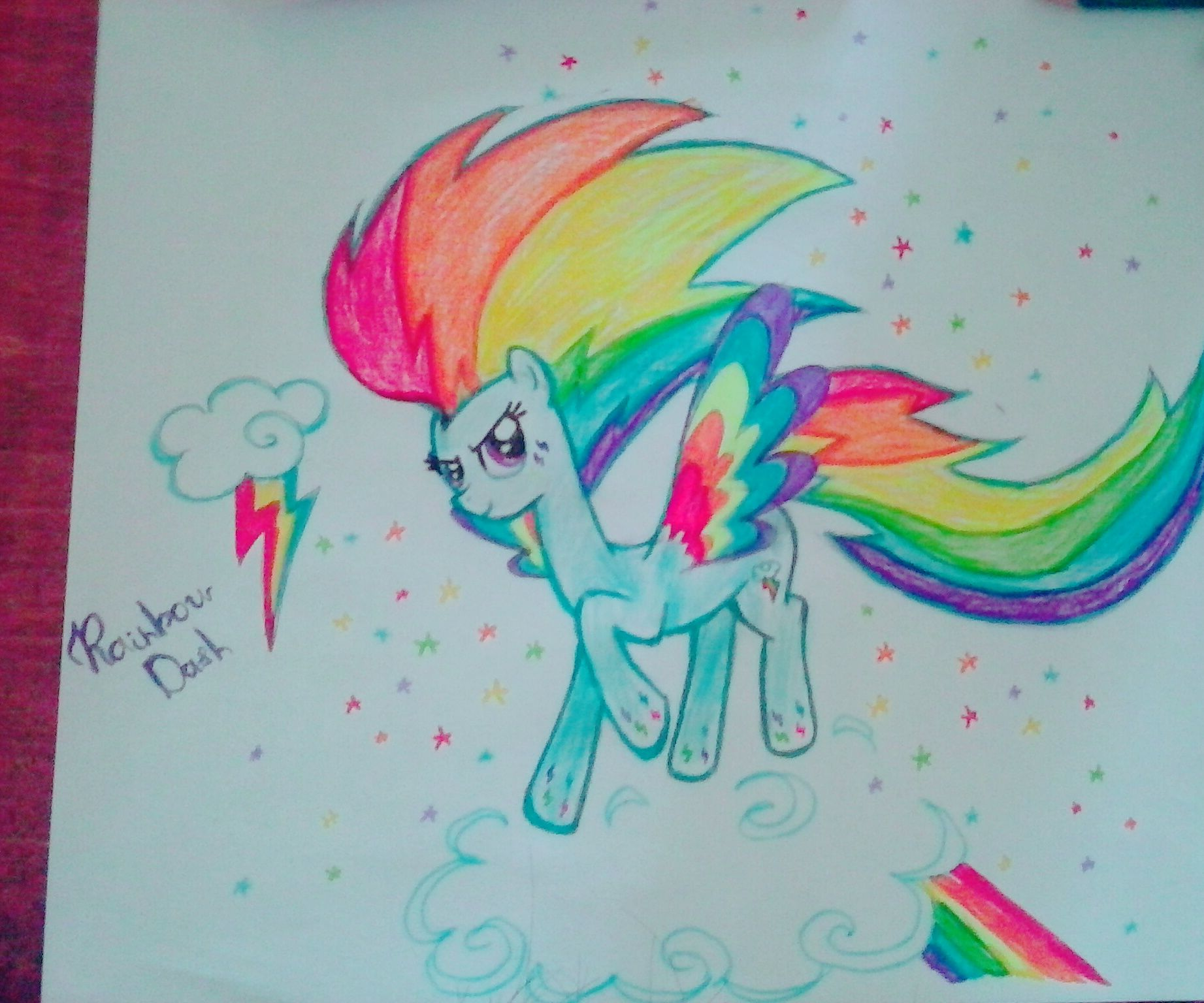 How to Draw Rainbow Dash From My Little Pony