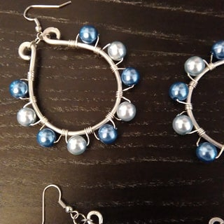 Wire Wrapped & Beaded Earrings