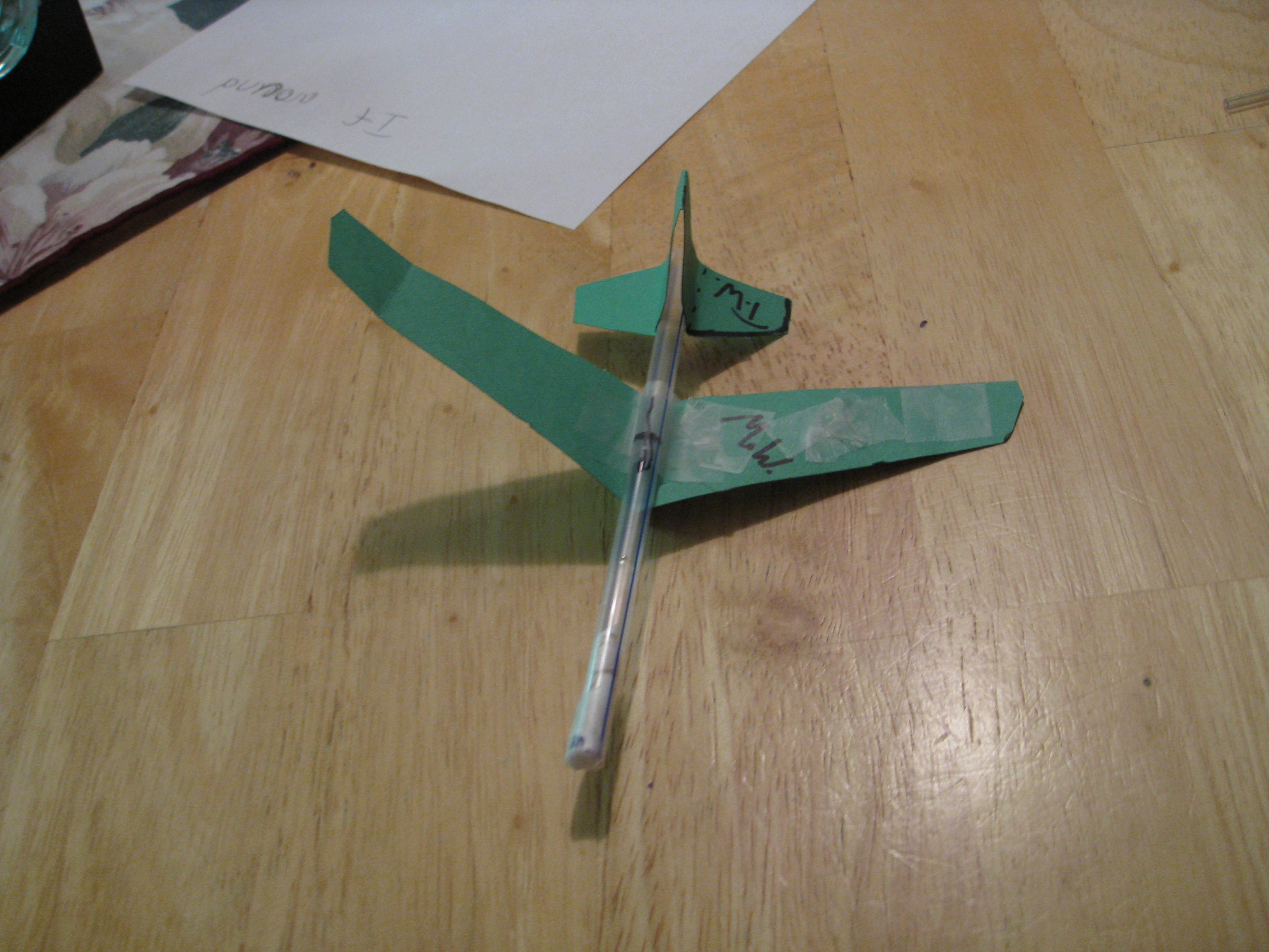 Awesome Straw Plane