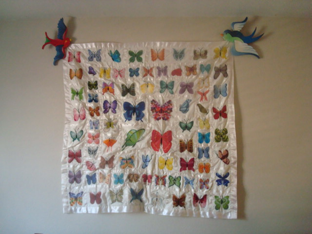 Tattoo-Style Swallow Quilt Holders